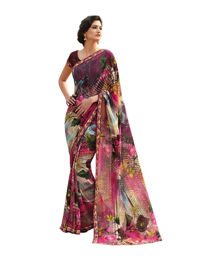 86dd6ce15d Laxmipati Sarees Brown Faux Georgette Saree - Buy Laxmipati Sarees Brown  Faux Georgette Saree Online at Low Price - Snapdeal.com