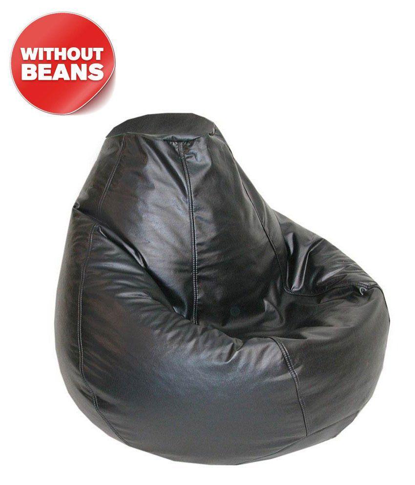 Fab Homez_black_xl Bean Bag Cover