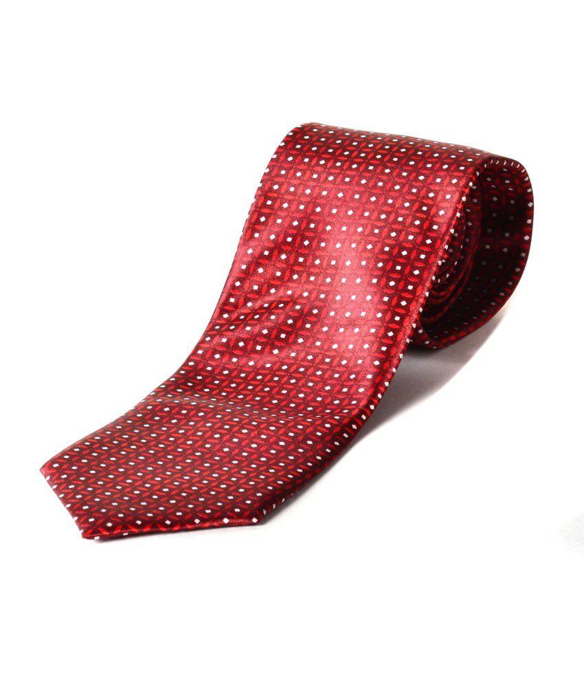 Silk Zone Satin Red Gigham Tie