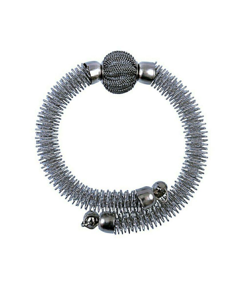 Vardan Fashion Casual Silver Stylish Bracelet