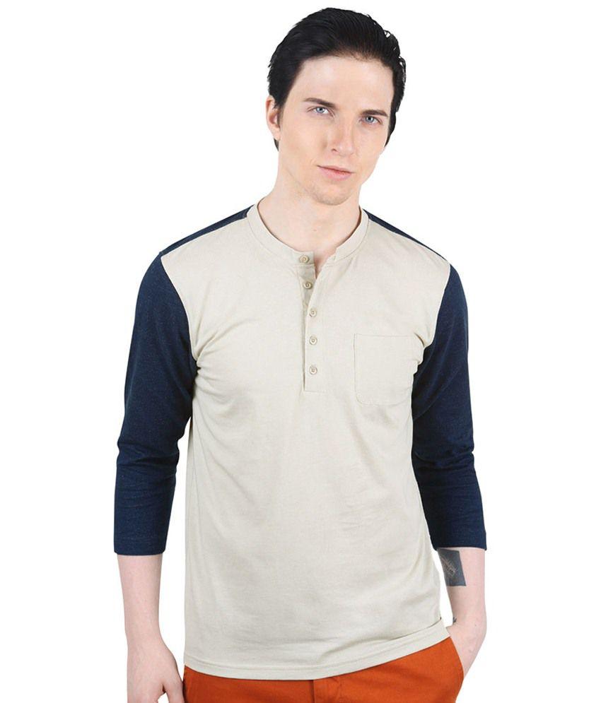 Freecultr Jason Beige & Navy T Shirt
