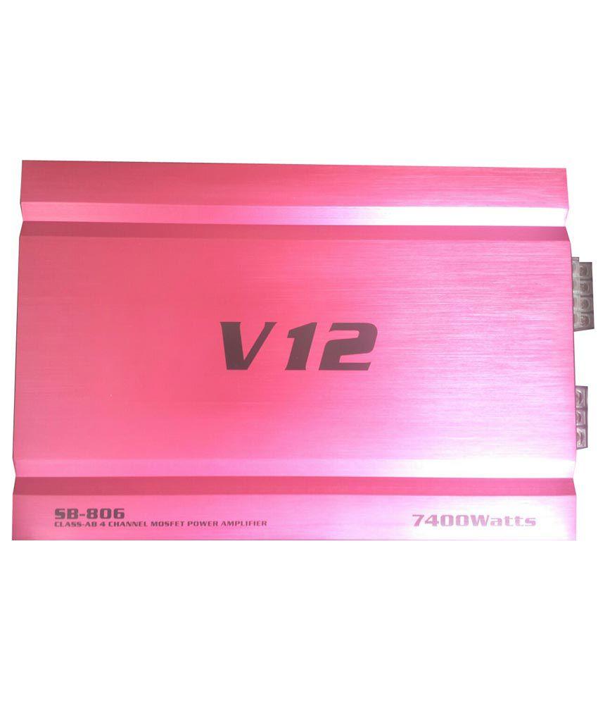 V12 Red Car Amplifier Sb-806: Buy V12 Red Car Amplifier Sb