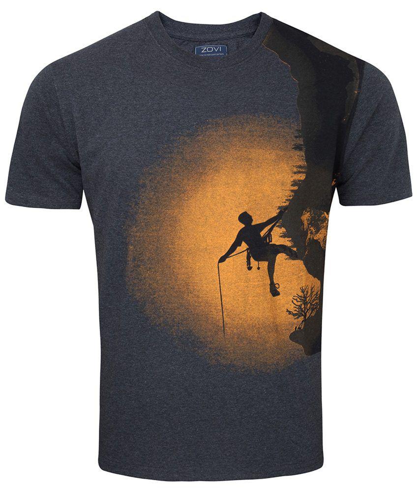 Zovi Cliff Hanger Dark Gray Graphic T Shirt