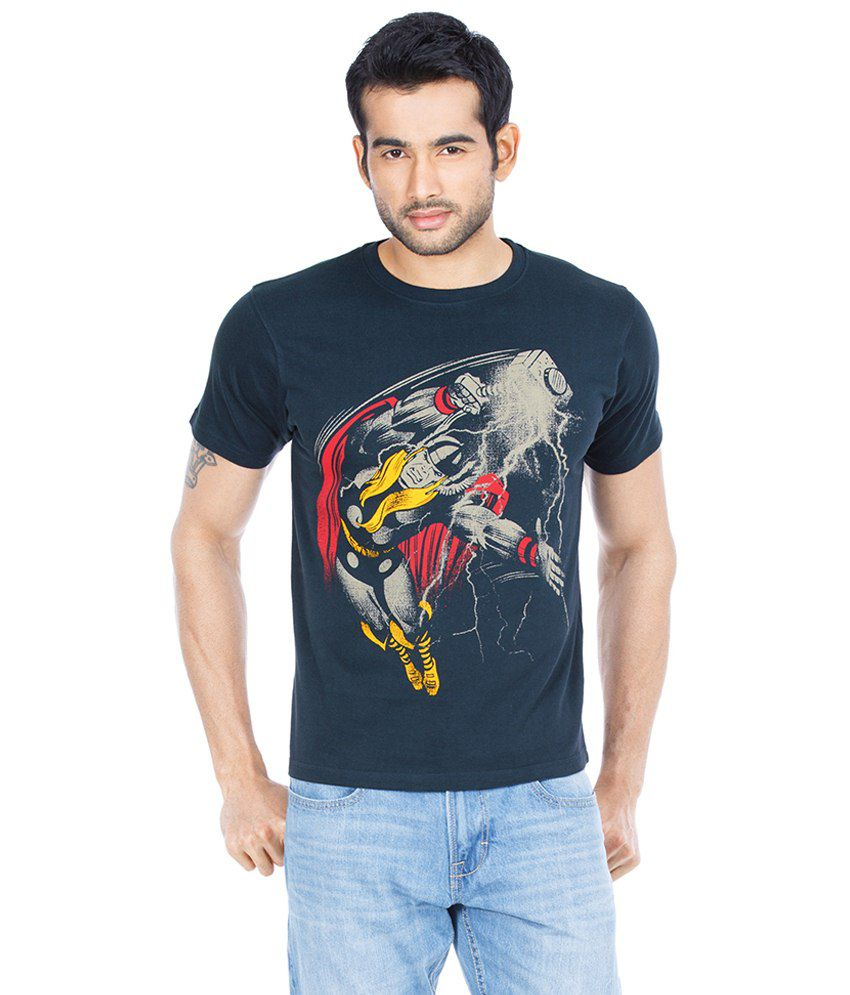 Zovi Thor Thunder Heritage Black Graphic T Shirt