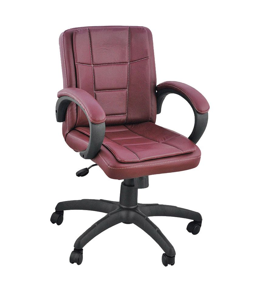 Low Back Office Chair In Brown