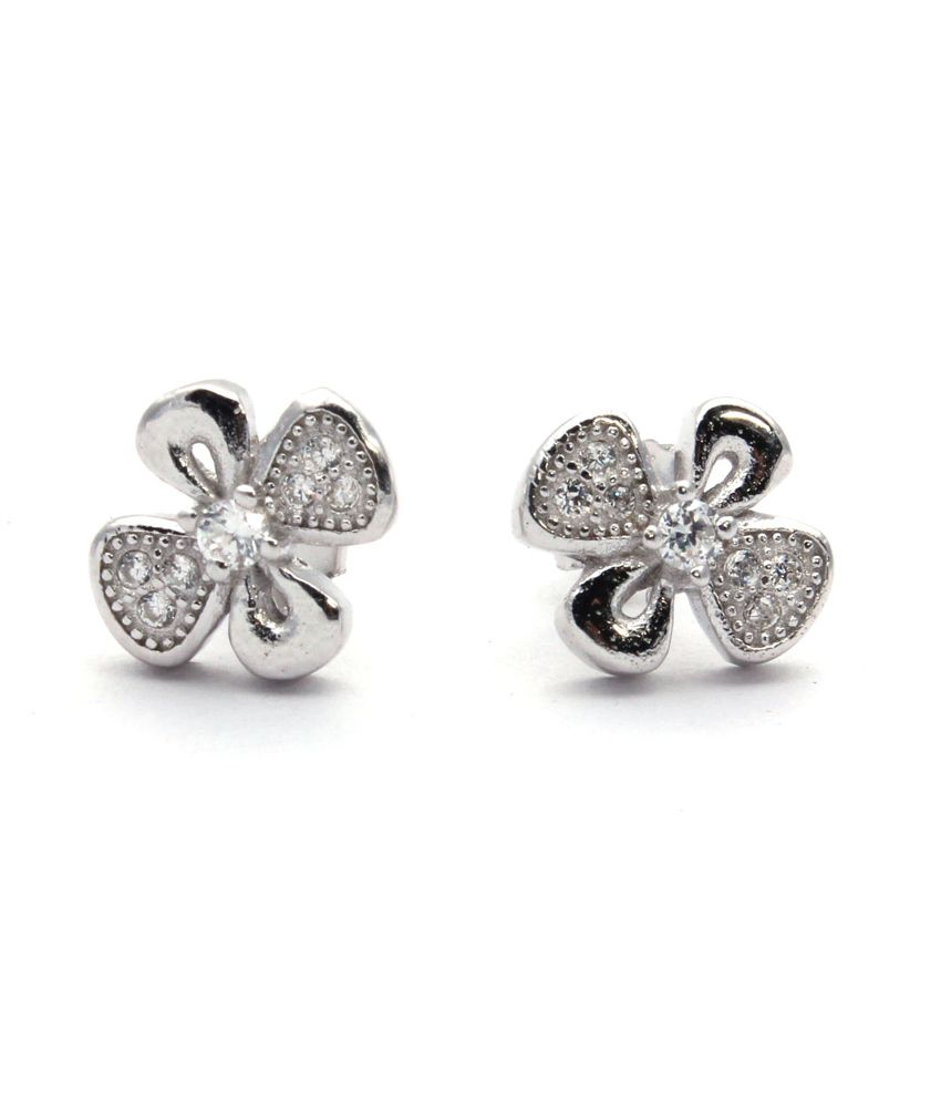 Bl Silver Sterling Silver Studs With Cz