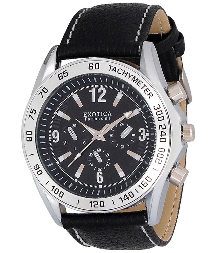 Exotica Fashions Exotica Black Analogue Wrist Watch For Men