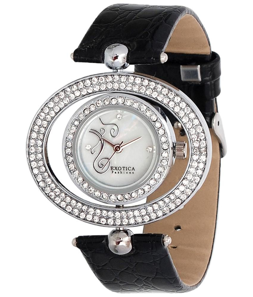 Exotica Fashions Exotica Black Analogue Wrist Watch For Women