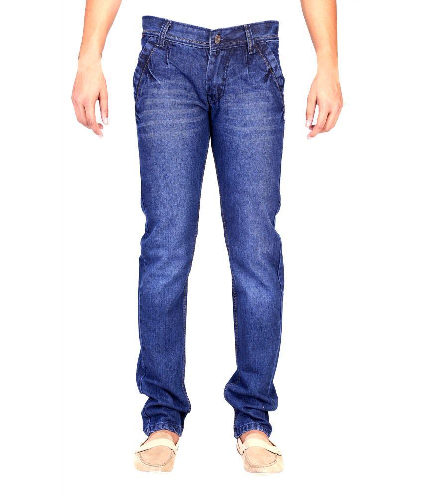 Ansh Fashion Wear Blue Stretchable Jeans