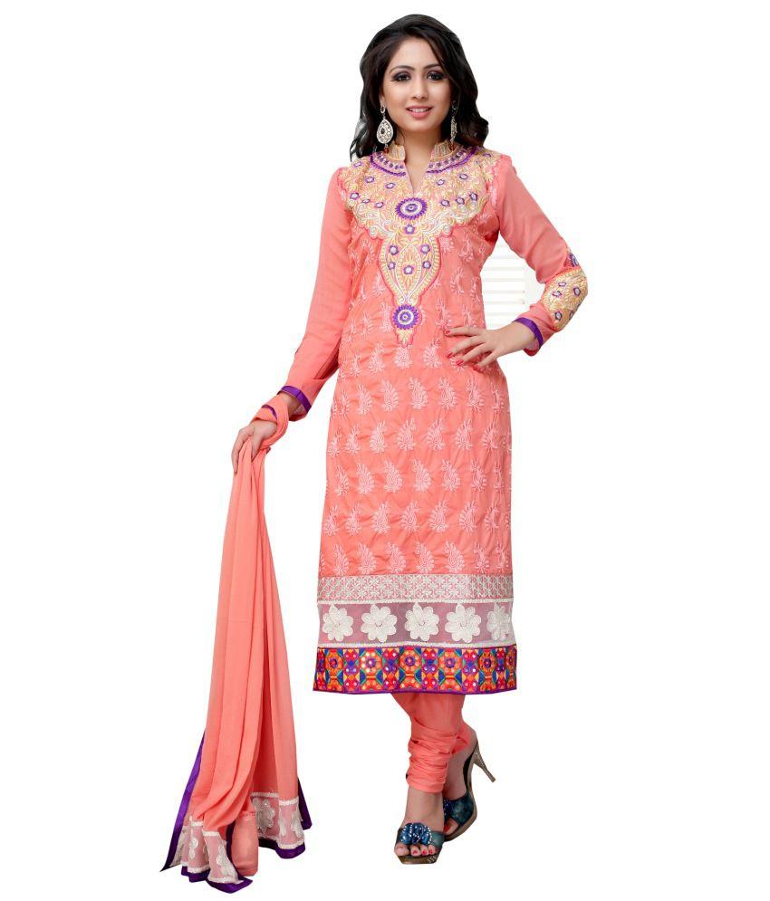 0ba82b845f Kashiba Fashion Hub Chanderi Cotton Straight Fit Embroidered Salwar Suit -  Buy Kashiba Fashion Hub Chanderi Cotton Straight Fit Embroidered Salwar Suit  ...