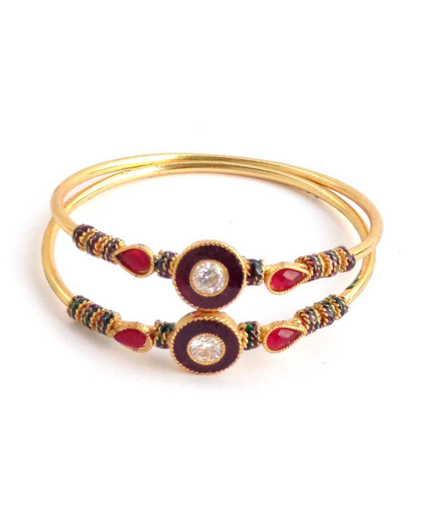Nishiratna Brass & Copper Antique Golden Kada
