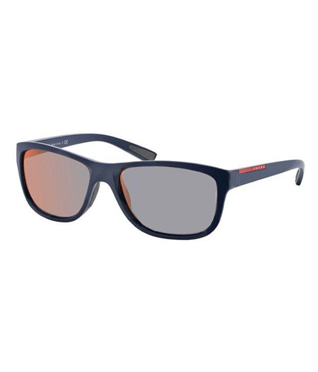 Prada Orange Wayfarer Non Metal Mirrored Designer Sunglasses For Women