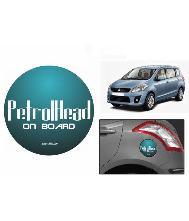 Speedwav Quirky Car Fuel Lid Sticker Round Petrolhead On Board-maruti Ertiga  available at snapdeal for Rs.300