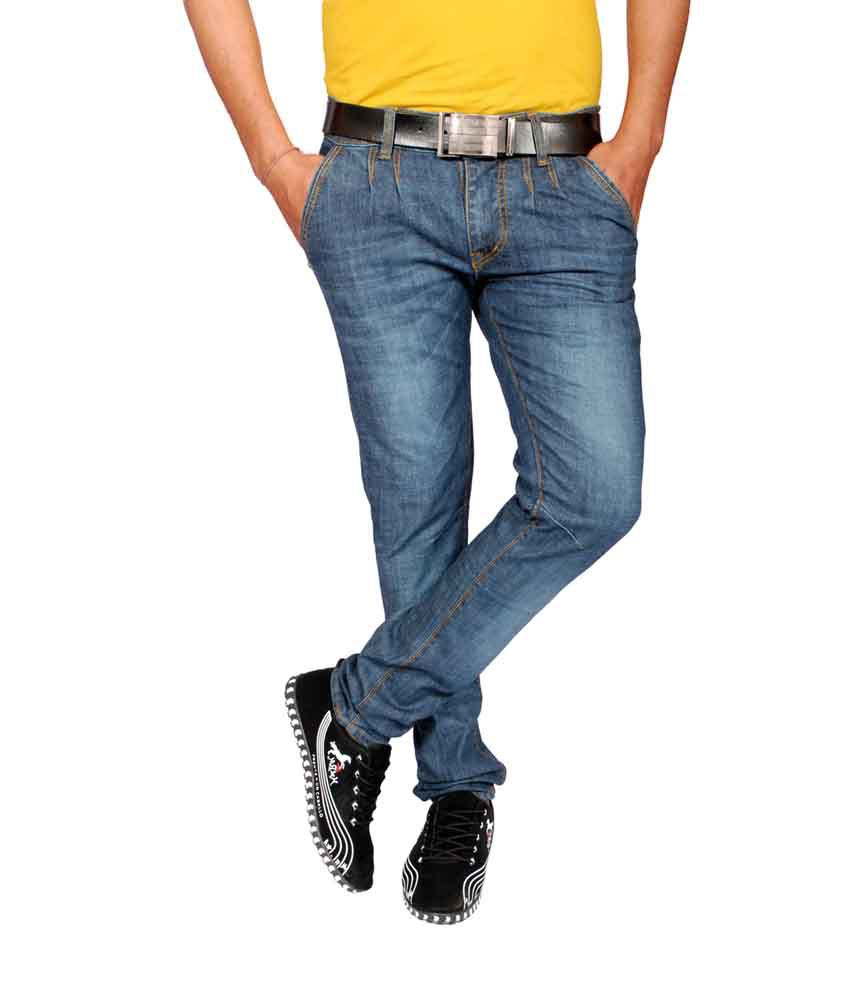 Attention Gray Cotton Regular Fit Basic Jeans