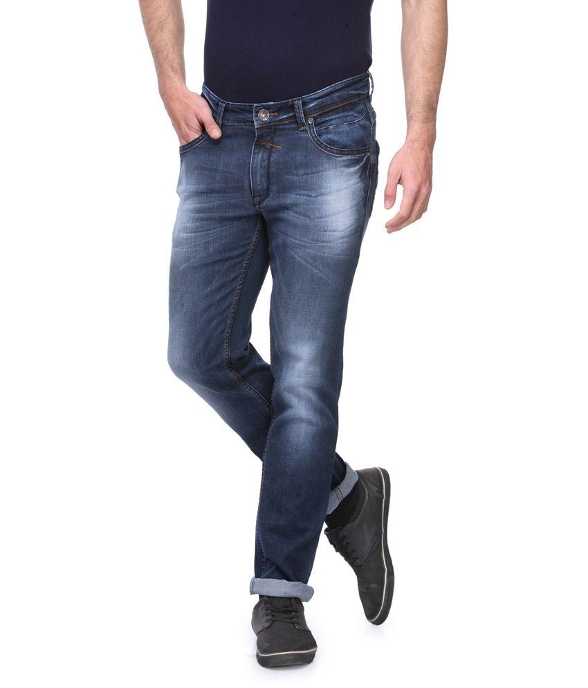 Canary London Blue Cotton Blend Denim Jeans