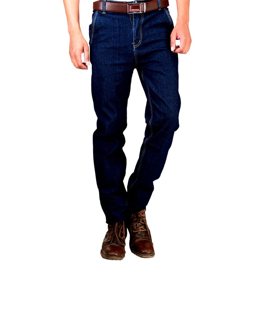 Western Texas 96 Blue Cotton Basic Regular Fit Men's Jeans