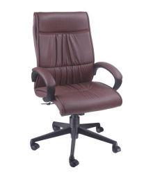 Divano Modular Maroon Fabric And Steel Office Chair