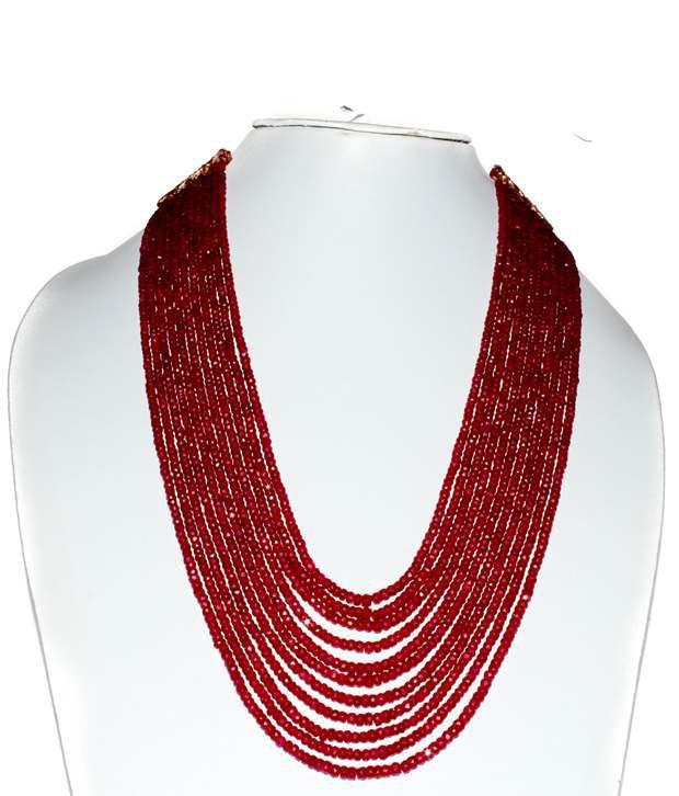 Kcj Original Ruby Multi Strand Necklace