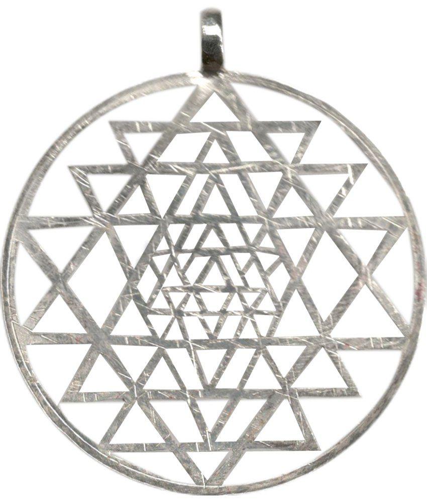 Bala Bakthi Sri Yantra Silver Pendant: Buy Bala Bakthi Sri