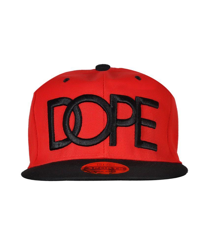 Cravers Red Cotton Summer Snapback Cap Dope Cap