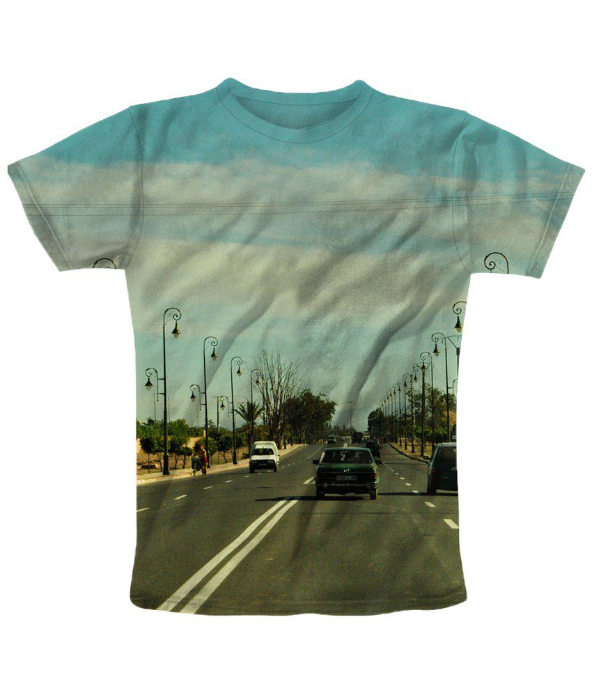 Freecultr Express Blue & Gray Street T Shirt