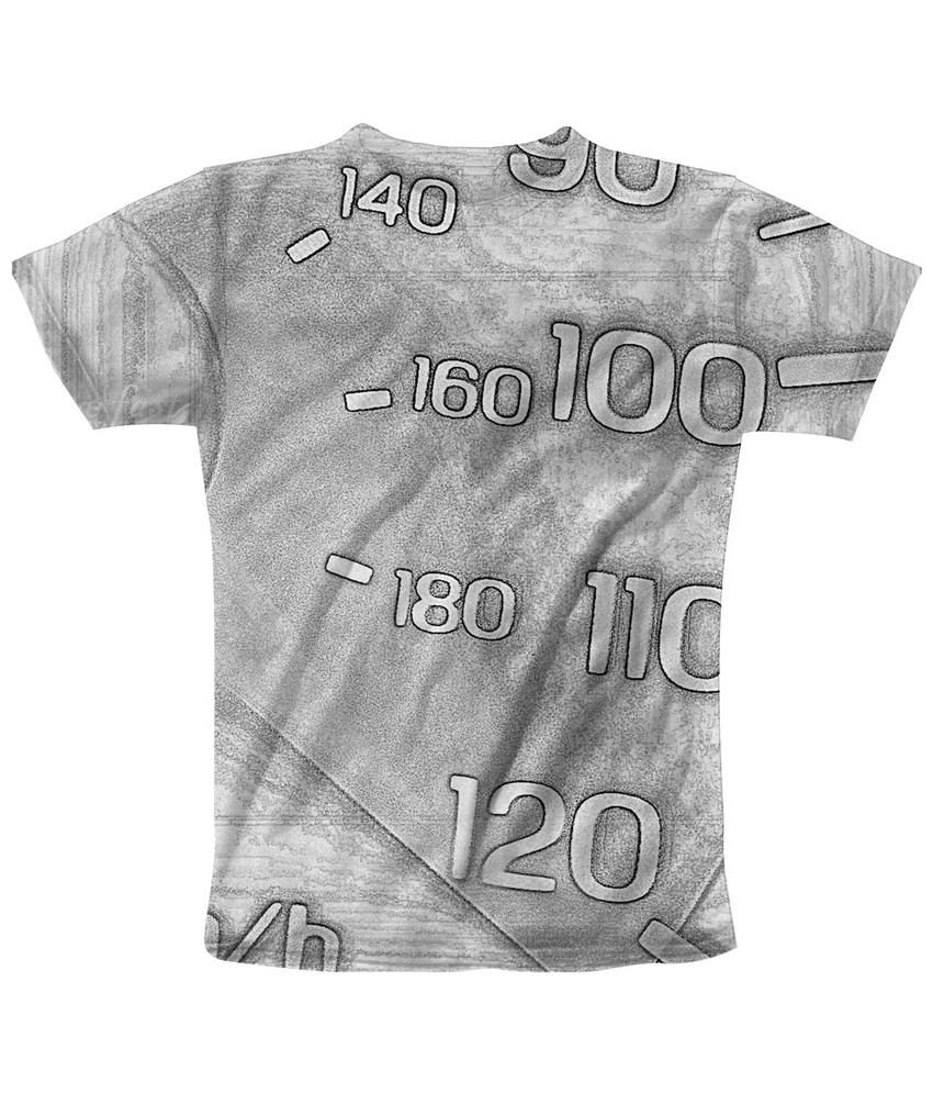 Freecultr Express Gray & Black Degree Graphic Half Sleeves T Shirt