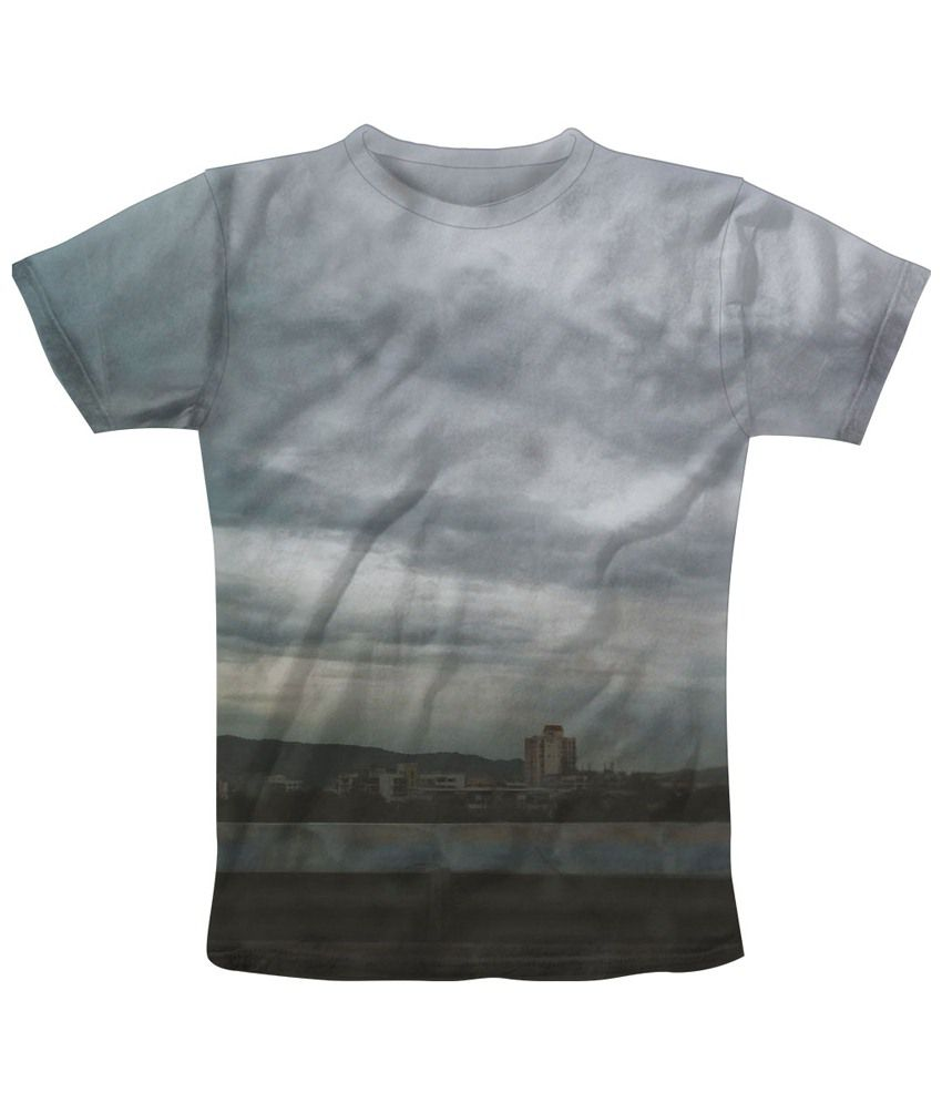 Freecultr Express Gray Murked Half Sleeve T Shirt