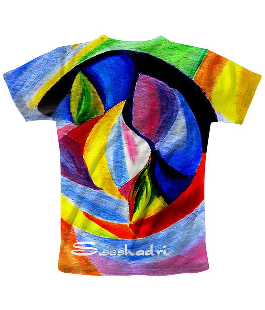 Freecultr Express Pleasing Multicolour Mix Printed T Shirt