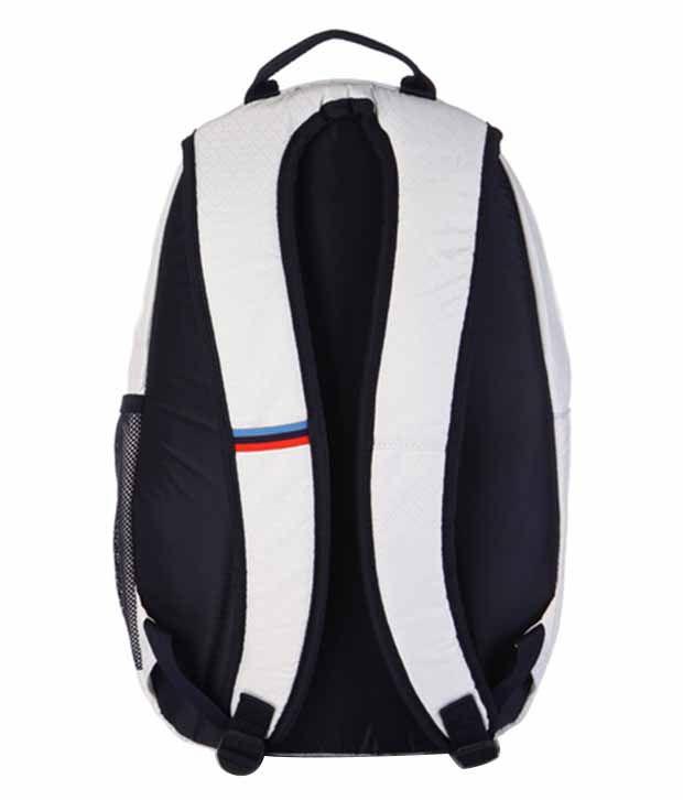 Puma BMW Motorsport Polyester Backpack - White - Buy Puma BMW ... e5e277dfb74f7