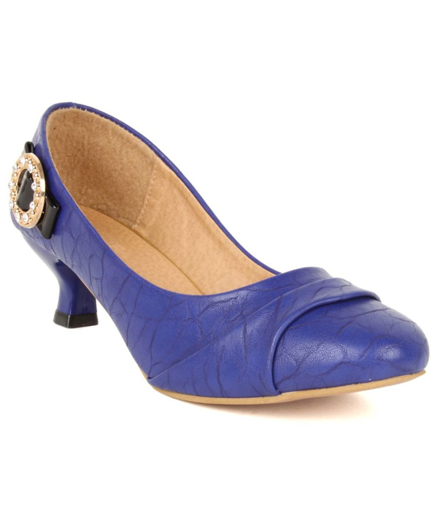 Lovely Chick Blue Heeled Pumps