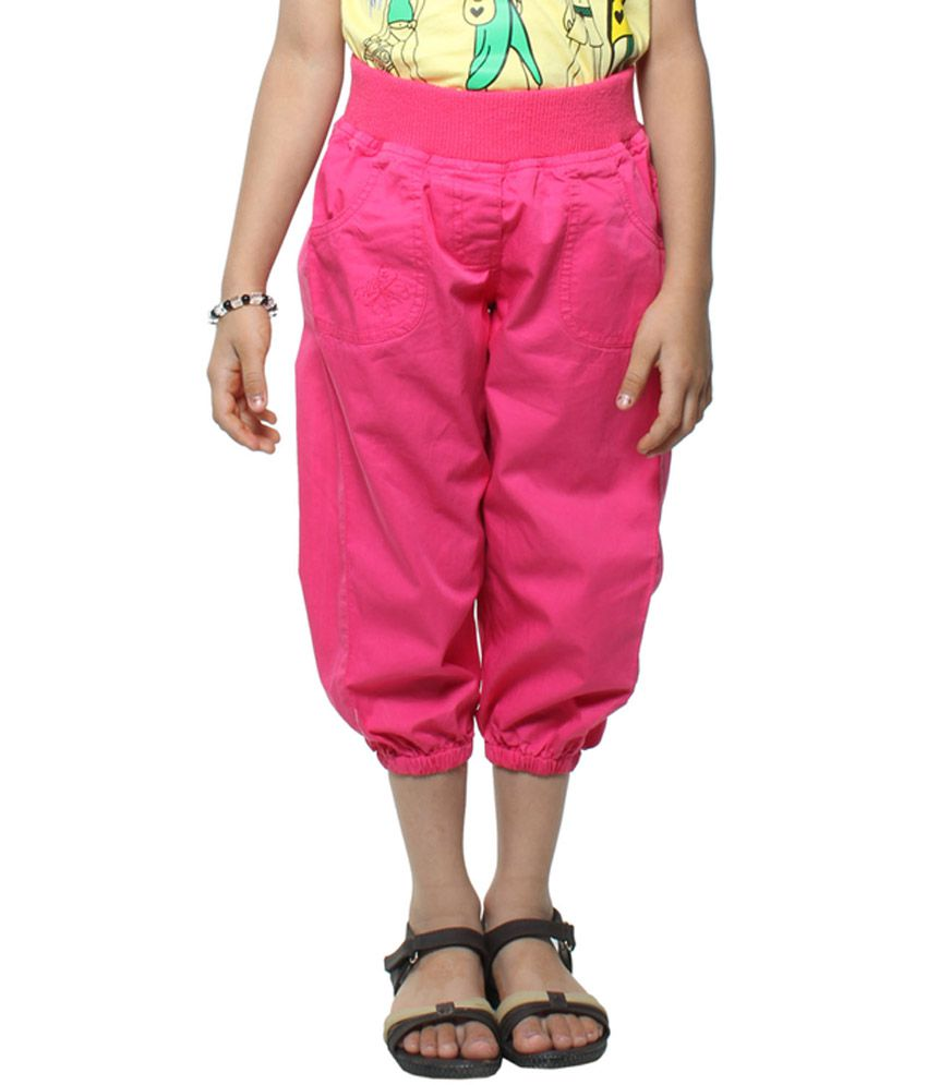 Stop By Shoppers Stop Playwear Girls Pink Woven Capri
