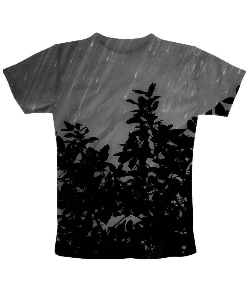 Freecultr Express Gray Rain Half Sleeves T Shirt