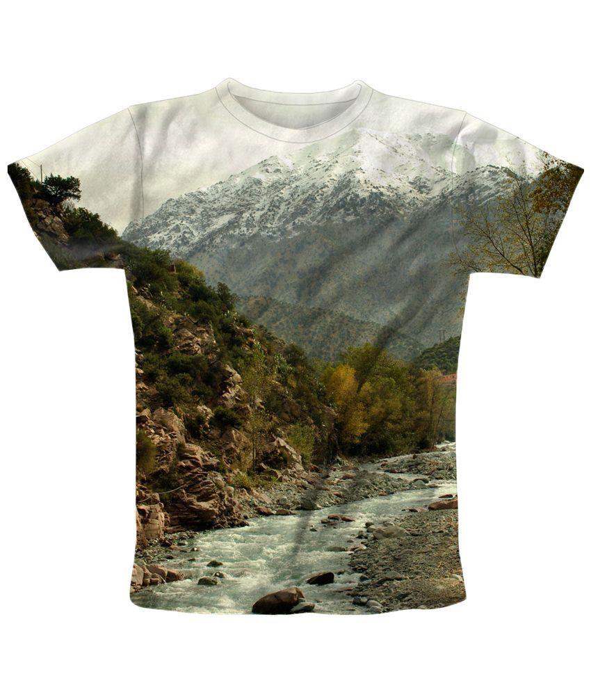 Freecultr Express Green & Brown Path T Shirt