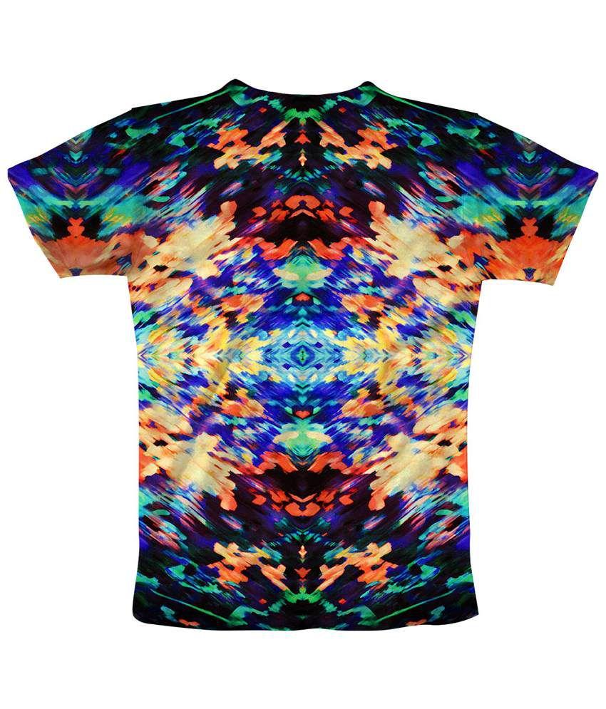 Freecultr Express Multicolour Burstrip T Shirt