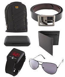 Keepsake Black Polyester Backpacks Combo Sets