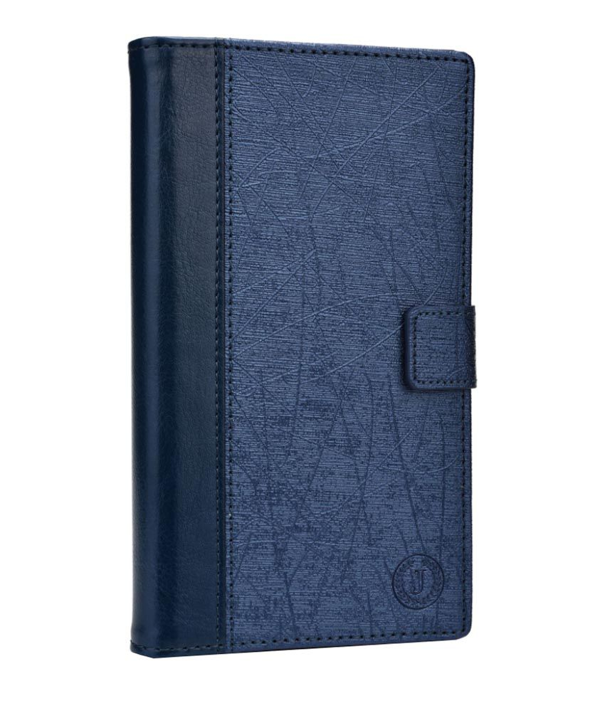 Jo Jo Cover Saturn Series Leather Flip Cover for Alcatel Idol 2 Mini - Dark Blue