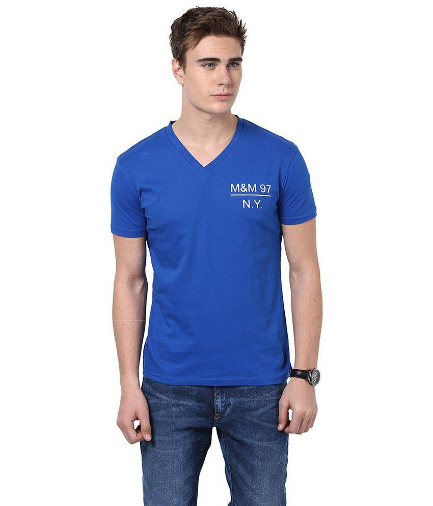 Monteil & Munero Blue Basic Half Sleeves T Shirt
