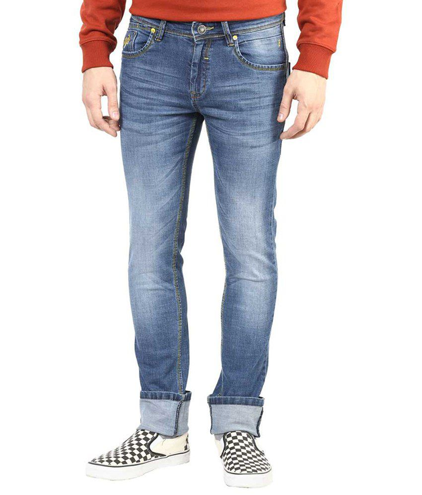Richlook Enticing Blue Faded Jeans