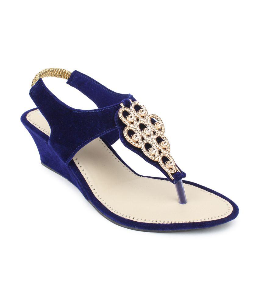 SRS Blue Suede Party Wear Sandal