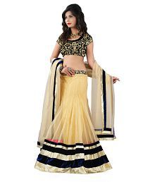 Omtex Fab Beautiful Chiku Color Lehenga With Velvet Blouse Piece