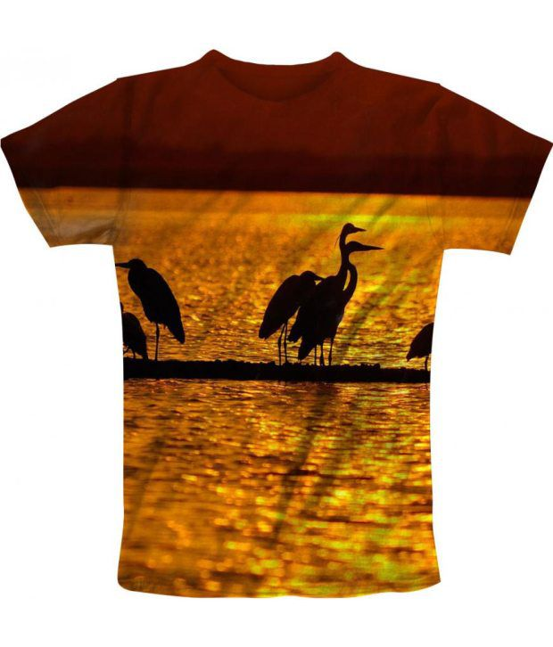 Freecultur Express Yellow Cotton Blend T-shirt
