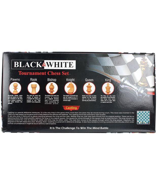 Yash Toys Black & White Tournament Chess Set Games For Kids