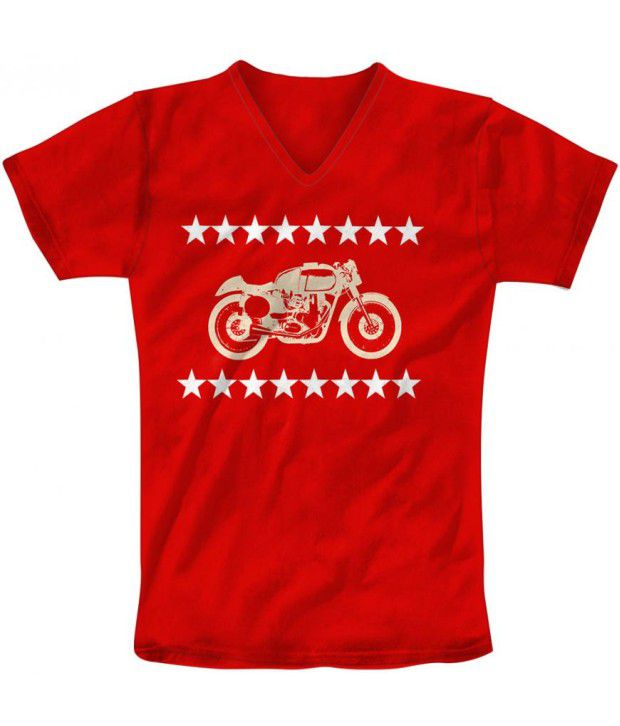 Freecultur Express Red Cotton Blend T-shirt