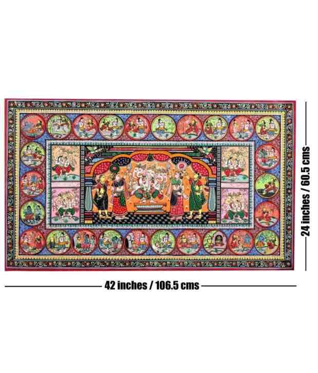Odisha Handicrafts Panchmukhi Ganesha Pattachitra Painting