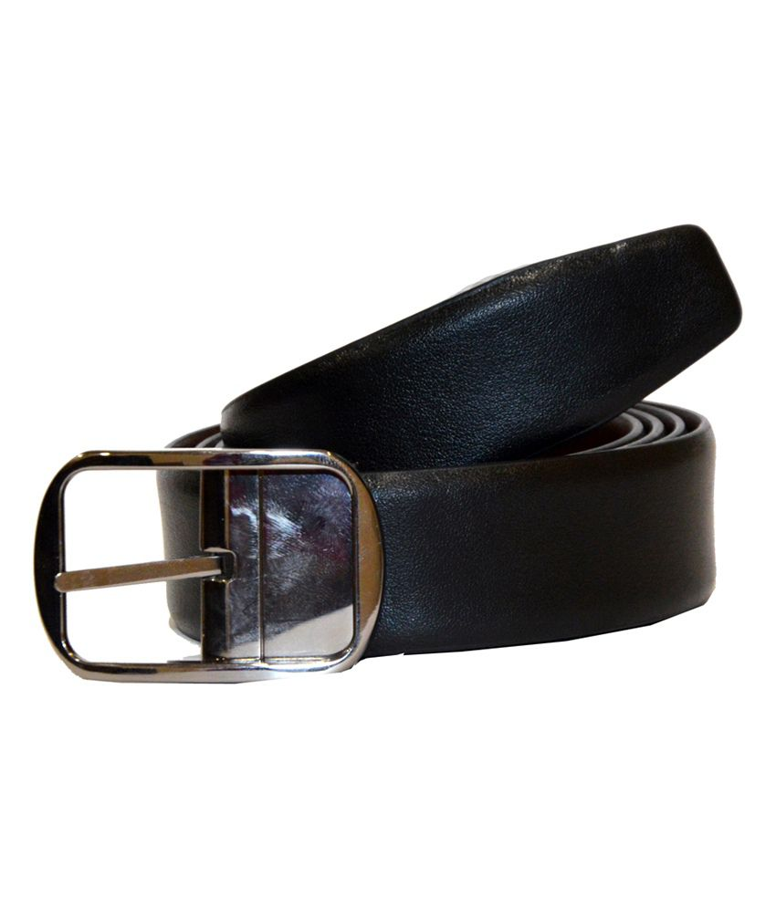Dennison Black Leather Reversible Formal Belt