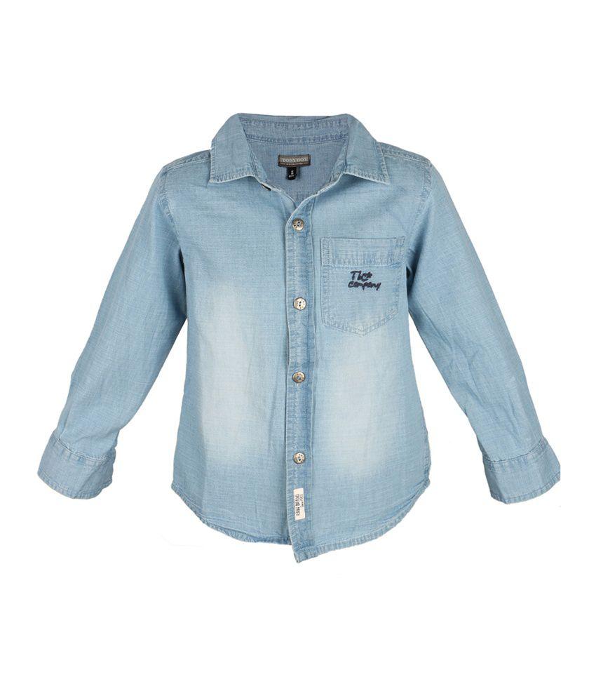 Tonyboy Blue Cotton Shirt Buy Tonyboy Blue Cotton Shirt