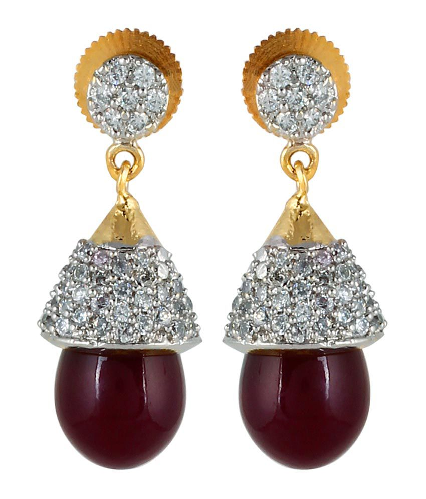 Mayra Golden Designer Party Wear Earrings