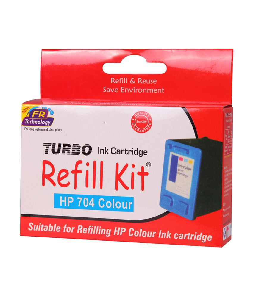 TURBO Refill Kit hp 704 Cartridge Multi Ink Single