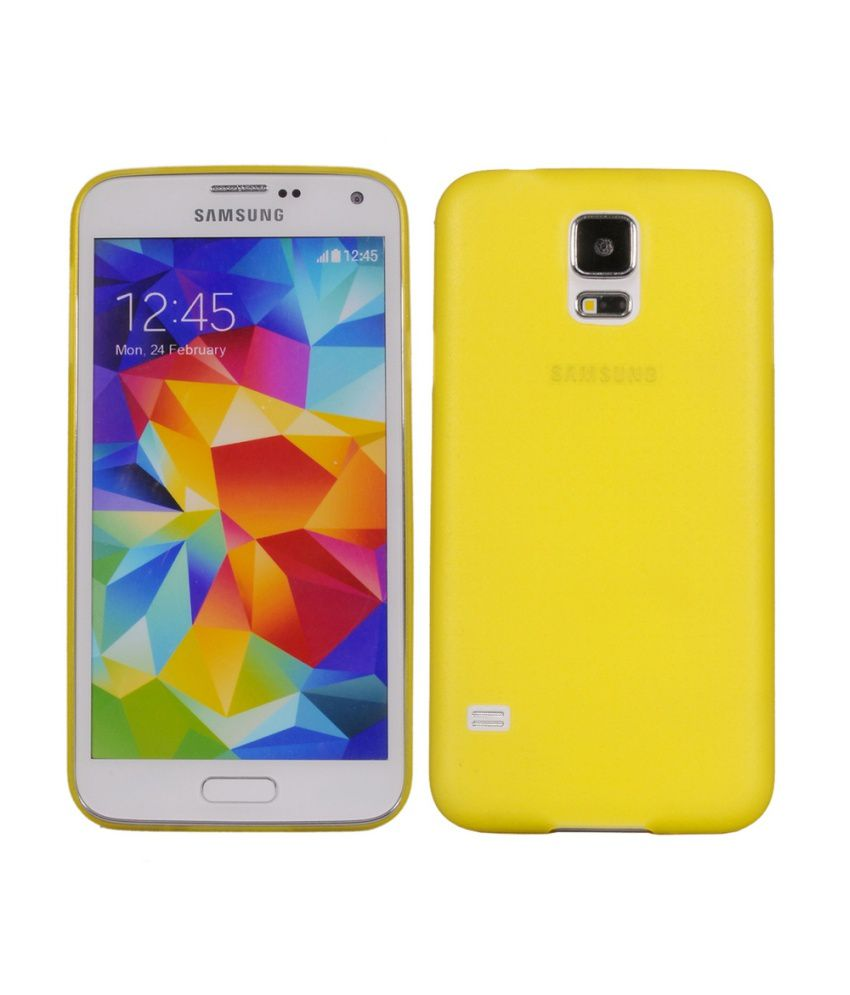 Cubix 0.3 MM Ultra Thin Matte Case Back Cover For Samsung Galaxy S5 (Sm-G900H) (Yellow)