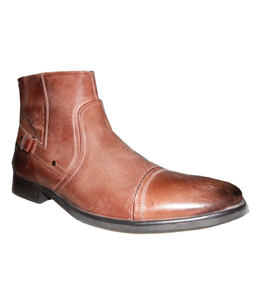 Filanto Brown High Ankle Length Boots